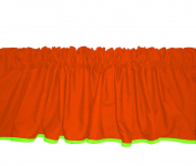 Baby Doll Bedding Solid Reversible Window Valance, Orange/Apple