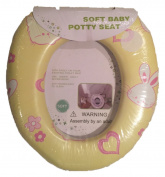 In-Obeytions Soft Baby Toilet Training Seat-Yellow and Pink Bunny