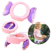 Onepalace 2 in 1 Portable Baby Toilet Seat Foldable Potty Trainer For Car Travelling Party