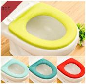 Singleluci 1 PC (Random Colour) Washable Bathroom Closestool Soft Warmer Mat Cover Pad Cushion Toilet Seat