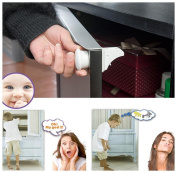 4PC Invisible Safety Baby Magnetic Cabinet Locks - Baby Proof & Easy Instal Singleluci