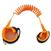 iMagitek Anti Lost Hook and loop Wrist Belt Link for Child & Babies Toddler Safety, Harnesses & Leashes Walking Hand Belt Straps for Kids 250cm - Orange