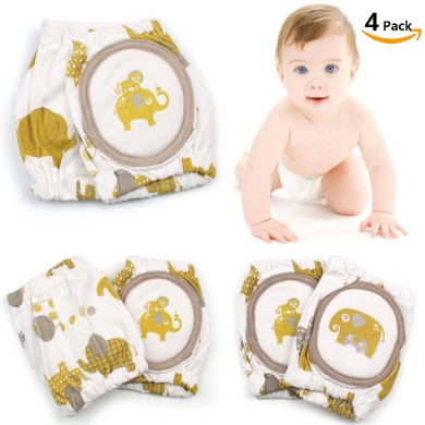 Baby Knee Pads, Philyer Breathable Adjustable Elastic Unisex Infant Toddler Knee Elbow Pad Crawling Safety Protector - 2 Pairs