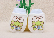 IVYRISE 3 Pairs Baby Scratch Protecting Gloves Baby Gloves Boys Girls Soft Cotton Fabric Anti-scratch Mitten with Adjustable Tying Rope, 3 Pairs Blue Frog