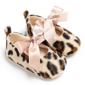 Pulison(TM) Baby Newborn Toddler Girls Cute Leopard Print Crib Shoes Soft Prewalker Soft Sole Shoes