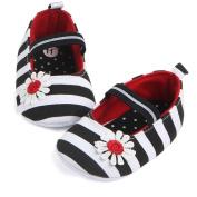 Pulison(TM) Infant Stripe Flower Shoes Soft Sole Kids Girls Baby Anti-Slip Baby Shoes