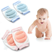 Cunina Adjustable Elastic Infant Toddler Baby Knee pads Knee Elbow Pads for Baby Crawling Safety Protector 3 Pairs