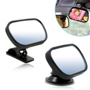 Back Seat Mirror,Koovy Rear view Mirror Easily Watch your Precious Child In-Car ,Baby Kids Monitor with Sucker