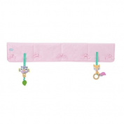 Babee Talk Eco-Teether Crib Rail Cover, Pink, 130cm x 46cm