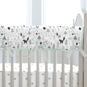 Carousel Designs Mint and Grey Baby Woodland Crib Rail Cover