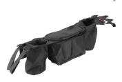 Stroller Organiser + Stroller Hook, Universal fit with Adjustable Straps, Stroller Caddy, Accessories Bag, Stroller Bag, Baby Accessories, Stroller Nappy bag