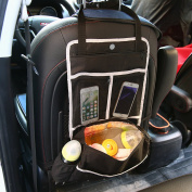 Artempo 5-In-1 Backseat Car Organiser, Trunk Organiser with Insulated Compartments for Drinks Cool and Other Accessories, Black