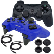 BlueLoong Wireless Double Vibration Controller For PS3 2 pack