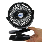 INNOBAY Desk Clip and Wall Mountable Mini Rechargeable Fan (Versatile Cooling Fan for Home, Office, Bedroom, Gaming Room, Computer Table and Multi-scenes