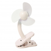 Portable and Easy to Use Clip-On Fan in White