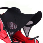 Universal Baby Stroller Sunshade Prams Pushchairs Sun Shade Sun Shield Cover Black