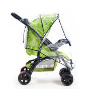 Buggy Baby Travel Transparent Clear Pushchair Stroller Pram Waterproof Windproof Rain Cover Wind Weather Shield for Protector by Pixco