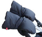 Yoovi Enfant Winter Stroller Hand Muffs Warm Gloves for Parents and Caregivers -- Black