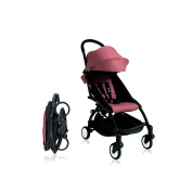 BabyZen Yoyo+ Stroller - Black Frame with Ginger Canopy