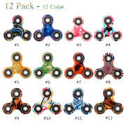 Fidget Spinner 12 Pack ADHD Stress Relief Anxiety Toys Best Autism Fidgets spinners for Adults Children Finger Toy with Bearing Focus Fidgeting Restless Colourful Hand Spin by SCIONE
