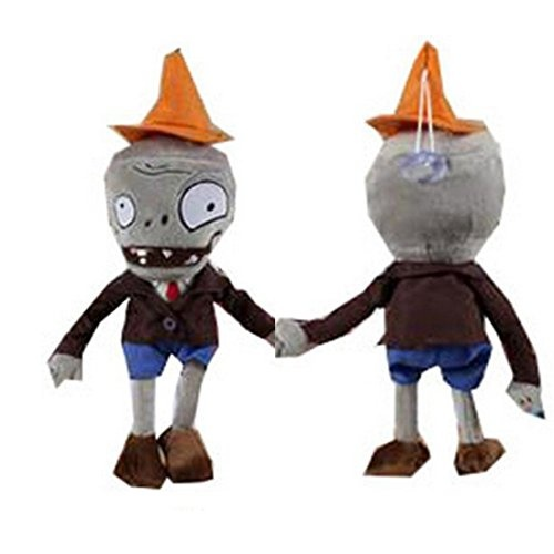 "Plants Vs Zombies Plush Toys Conehead Zombie 10/"" Peashooter 6.7/"" Tall Plush"