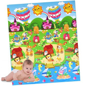Play Mat XL with Figurines and Colourful Colours