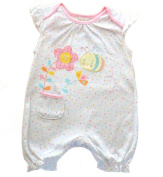 Cutey Pie Baby Girl Polka Dot Romper multicoloured sleeveless summer outfit. Available in 3 sizes 0-3 months, 3-6months 6-9 months.