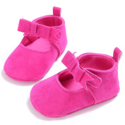 Keepwin Infant Baby Soft Sole Moccasins Bowknot Prewalker Anti-Slip Toddler Shoes