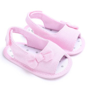 Prewalker Shoes, Keepwin Baby Girls Soft Soled Bowknots Crib Shoes Cloth Moccasins