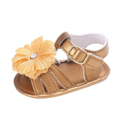 Keepwin Toddler Sandals with Flower Infant Baby Girl Summer Sweet PU Leather Sandals