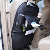 beler Universal Car Man-made Leather Seat Back Organiser Holder Multi-Pocket Travel Storage Bag Pouch