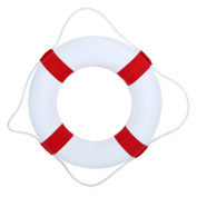 50cm diameter Foam Swim Rings - Children Swimming Pool Lifebuoy Safety Life Preserver with Perimeter Rope