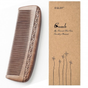 Wooden Comb Hair Comb Massage Comb Two Sided Carving Mahogany Comb 17.5cm/6.9""