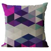 YeeJu Geometric Decorative Throw Pillow Covers Square Cotton Linen Cushion Covers Sofa Home Nordic Pillow Cases 46cm x 46cm