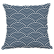 YeeJu Square Nordic Style Simple Geometric Cotton Linen Home Sofa Decor Throw Pillow Case Cushion Cover 41cm x 41cm