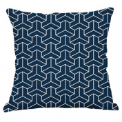 YeeJu Square Nordic Style Simple Geometric Cotton Linen Home Sofa Decor Throw Pillow Case Cushion Cover 46cm x 46cm