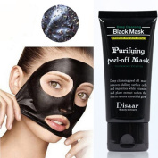VENMO Black Mud Deep Cleansing Purifying Facial Gel, Blackhead Removal Facail Face Mask Peel Off