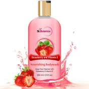 St.Botanica Strawberry & Vitamin E Nourishing Luxury Body Wash - Strawberry & Vitamin E Oil Body Wash - 300 ml