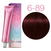 SCHWARZKOPF IGORA ROYAL PEARLESCENCE HAIR COLOUR 60ml P6-89 DARK BLONDE MAGENTA