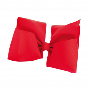 GIZZY® Girls Red X Large Ribbon Bow on Beak style Hair Clip.