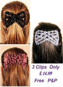 Mebella Women/Ladies Magic Beads Hair Clips Stretchy EZ double comb Different hair styles