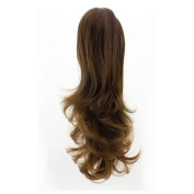 MERRYLIGHT Straight Light Curled Ponytail Extension