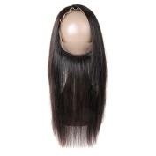 HmtAfro 360 Closure Brazilian Straight Hair Natural Colour