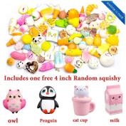 WATINC Random 12 pcs include 11pcs 4-7cm and 1pcs 10cm Squishy Cream Scented Slow Rising Kawaii Simulation bread children toy Jumbo Medium Mini Soft squishies Cake/Panda/Bread/Buns
