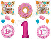 DONUT GROW UP 1st Birthday Party Balloons Decoration Supplies First Sweet Shop