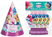 Shimmer and Shine 8ct Party Hats and Blowouts