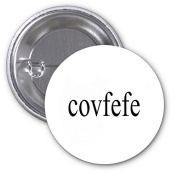 Covfefe Funny Quote Design Pattern Image 2 PACK of 7.6cm Buttons Flare by Trendy Accessories