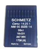Schmetz Industrial Sewing Machine Ball Point Needles (SIZE 14) - For Straight Stitch/Single Needle Industrial Sewing Machines Pack of 10 Needles