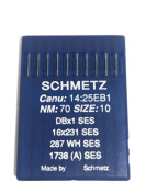 Schmetz Industrial Sewing Machine Ball Point Needles (SIZE 10) - For Straight Stitch/Single Needle Industrial Sewing Machines Pack of 10 Needles