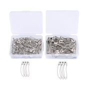 Heirtronic 150 Pieces Curved Quilting Safety Pins Knitting Pins with Storage Case,Assorted Size